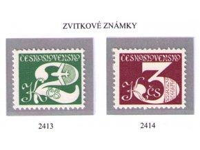 ČS 1980 / 2413-2414 / Zvitkové známky **