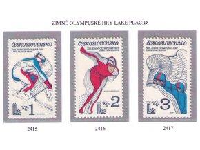 ČS 1980 / 2415-2417 / ZOH Lake Placid **