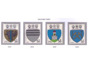 ČS 1980 / 2423-2426 / Znaky čs. miest **