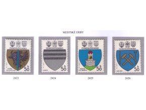 ČS 2423-2426 Znaky čs. miest