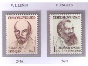 ČS 1980 / 2436-2437 / V. I. Lenin, B. Engels **