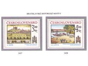 ČS 1980 / 2457-2458 / Bratislavské motívy **