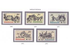 ČS 1981 / 2469-2473 / Historické poštové vozy **