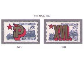 ČS 1981 / 2483-2484 / XVI. zjazd KSČ **