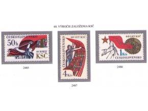 ČS 2485-2487 Výročie KSČ