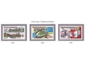 ČS 1981 / 2491-2493 / Socialistická výstavba **