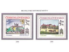 ČS 2494-2495 Bratislavské motívy