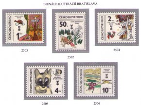 ČS 1981 / 2502-2506 / BIB 1981 **