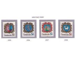 ČS 2525-2528 Znaky čs. miest