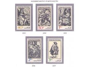 ČS 2533-2537 Hudobné motívy na rytinách