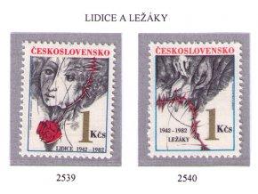 ČS 1982 / 2539-2540 / Lidice a Ležáky **
