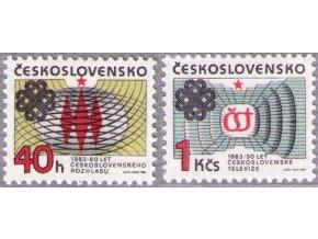 ČS 1983 / 2582-2583 / Výročia rozhlasu a televízie **