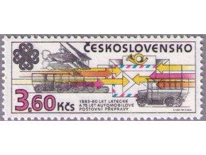 ČS 1983 / 2584 / Výročia poštovej prepravy **