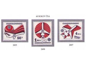 ČS 1983 / 2605-2607 / 60. výročie ČSA **