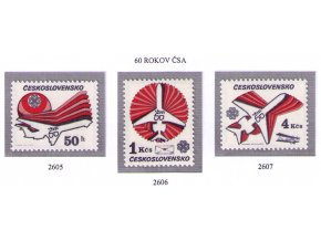 ČS 2605-2607 60. výročie ČSA