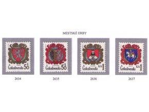 ČS 1984 / 2634-2637 / Znaky čs. miest **