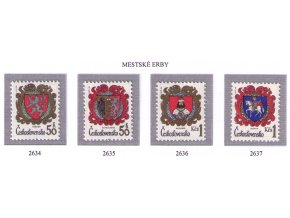 ČS 2634-2637 Znaky čs. miest