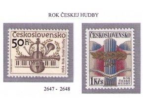 ČS 1984 / 2647-2648 / Rok českej hudby **