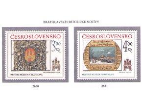 ČS 1984 / 2650-2651 / Bratislavské motívy **