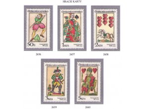 ČS 1984 / 2656-2660 / Hracie karty **
