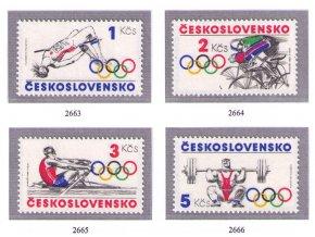 ČS 1984 / 2663-2666 / Olympijské hnutie **