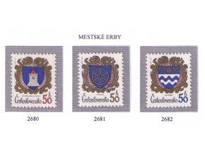 ČS 2680-2682 Znaky čs. miest