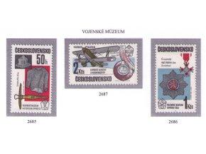 ČS 1985 / 2685-2687 / Vojenské múzeum **