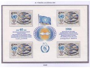 ČS 1985 / 2689 H / 40. výročie OSN **