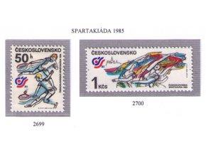 ČS 2699-2700 Čs. spartakiáda 1985
