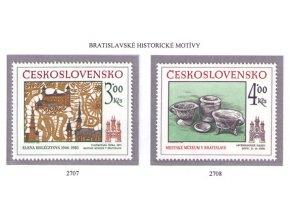 ČS 1985 / 2707-2708 / Bratislavské motívy **