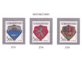 ČS 2733-2735 Znaky čs. miest