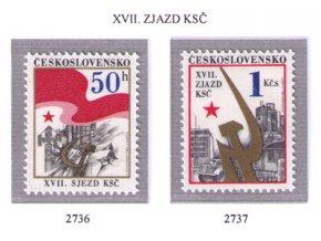 ČS 1986 / 2736-2737 / Zjazd KSČ **