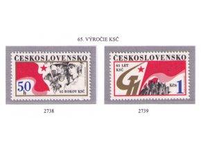 ČS 1986 / 2738-2739 / Výročie KSČ **
