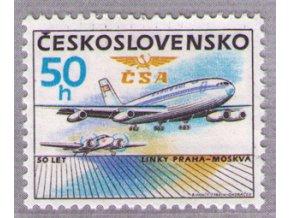 ČS 1986 / 2743 / 50. výročie letov Praha-Moskva **