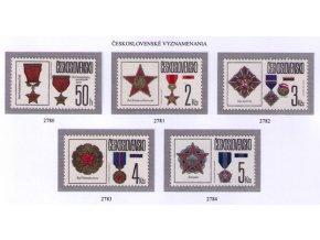 ČS 1987 / 2780 / Čs. vyznamenania **