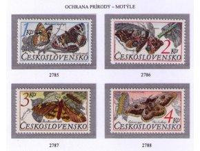 ČS 1987 / 2785-2788 / Ochrana prírody - motýle **