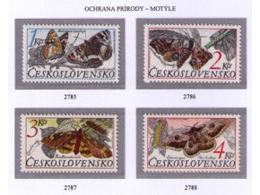 ČS 2785-2788 Ochrana prírody - motýle