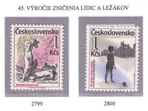 ČS 1987 / 2799-2800 / Lidice a Ležáky **