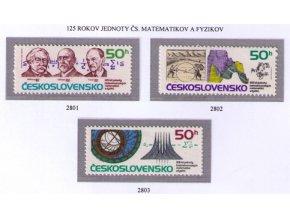 ČS 1987 / 2801-2803 / Výročie jednoty matematikov **