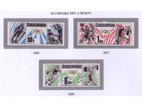 ČS 1988 / 2826-2828 / Olympijské hry a športy **