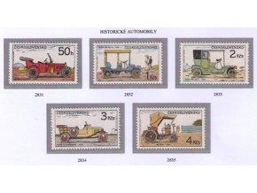 ČS 2831-2835 Historické automobily