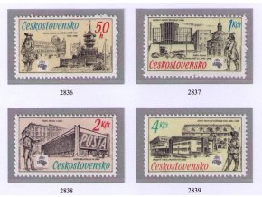 ČS 2836-2839 70 rokov Poštového múzea
