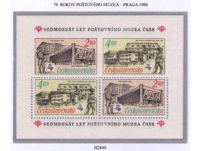 ČS 1988 / 2840 H / 70 rokov Poštového múzea **