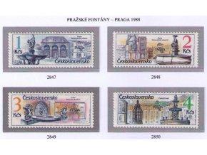 ČS 1988 / 2847-2850 / Pražské fontány **