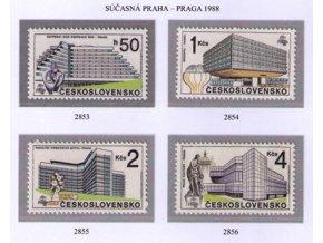 ČS 1988 / 2853-2856 / Praha súčasnosti **