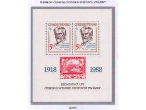 ČS 2859 H 70 rokov československej známky