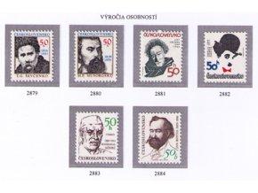 ČS 2879-2884 Výročia osobností