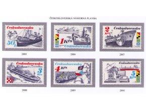 ČS 1989 / 2885-2890 / Čs. námorné lode **