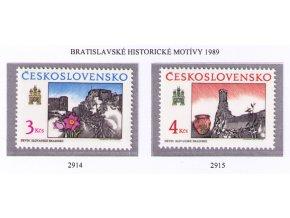 ČS 1989 / 2914-2915 / Bratislavské motívy **