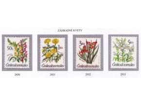 ČS 1990 / 2930-2933 / Záhradné kvety **